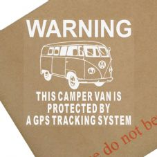 1 x Volkswagen Camper Van Dummy/Fake GPS Tracking System Device Unit Window Stickers-Campervan Security Alarm Warning Self Adhesive Vinyl Signs